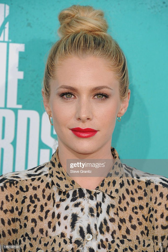 Actress Casey LaBow arrives at the 2012 MTV Movie Awards at Gibson Amphitheatre on June 3, 2012 in Universal City, California.