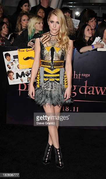 Actress Casey LaBow arrives at the Los Angeles premiere of 'The Twilight Saga Breaking Dawn Part 1' held at Nokia Theatre LA Live on November 14 2011...