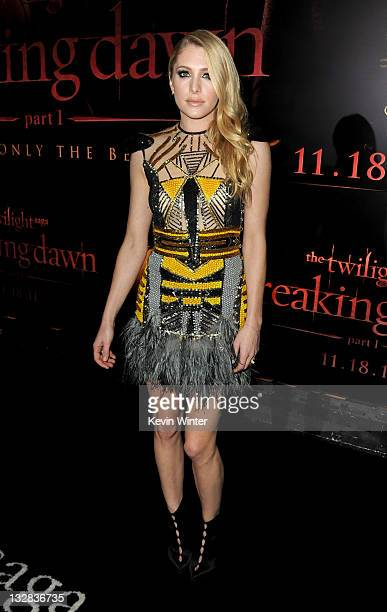 Actress Casey LaBow arrives at the premiere of Summit Entertainment's 'The Twilight Saga Breaking Dawn Part 1' at Nokia Theatre LA Live on November...