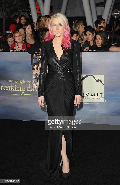 Actress Casey LaBow arrives at the premiere of Summit Entertainment's 'The Twilight Saga Breaking Dawn Part 2' at Nokia Theatre LA Live on November...