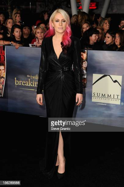 Actress Casey LaBow arrives at 'The Twilight Saga Breaking Dawn Part 2' Los Angeles premiere at Nokia Theatre LA Live on November 12 2012 in Los...
