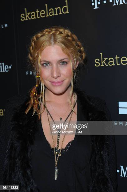 Actress Casey LaBow attend the 'Skateland' cast party at the TMobile myTouch Diner at Village at The Yard on January 25 2010 in Park City Utah