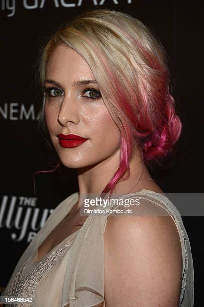 Actress Casey LaBow attends The Cinema Society with The Hollywood Reporter Samsung Galaxy screening of 'The Twilight Saga Breaking Dawn Part 2' on...