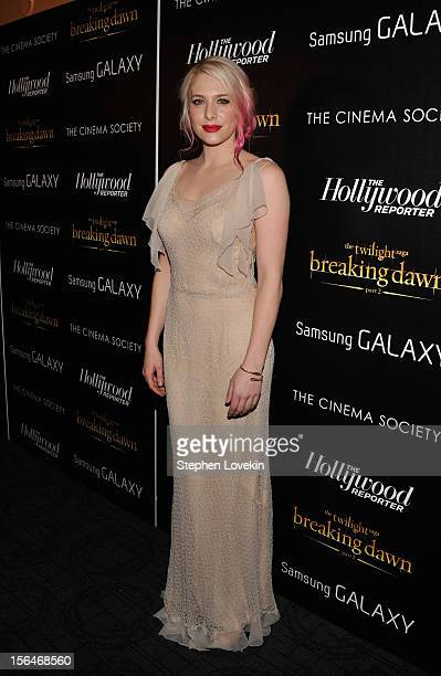 Actress Casey LaBow attends The Cinema Society with The Hollywood Reporter Samsung Galaxy screening of The Twilight Saga Breaking Dawn Part 2 on...