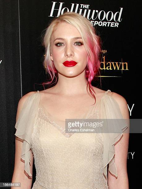Actress Casey LaBow attends the Cinema Society with The Hollywood Reporter and Samsung Galaxy screening of 'The Twilight Saga Breaking Dawn Part 2'...