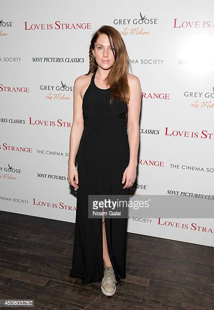 Actress Casey LaBow attends the Sony Pictures Classics With The Cinema Society Grey Goose screening of 'Love Is Strange' at Tribeca Grand Hotel on...