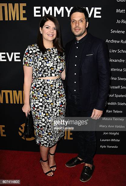 Actress Casey Wilson and husband David Caspe attend the Showtime Emmy eve party at Sunset Tower on September 17 2016 in West Hollywood California
