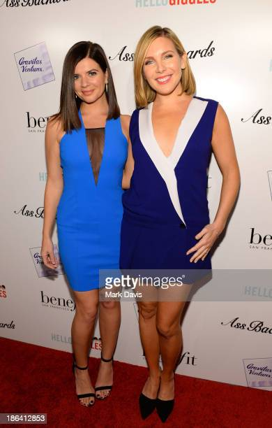 Actress Casey Wilson and June Diane Raphael attend the premiere of Gravitas Ventures' 'Ass Backwards' at the Vista Theatre on October 30 2013 in Los...