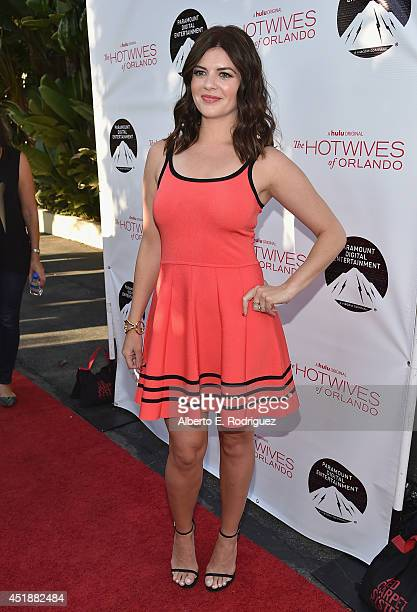 Actress Casey Wilson arrives to the premiere of Hulu's The Hotwives of Orlando at the Sherry Lansing Theatre at Paramount Studios on July 8 2014 in...