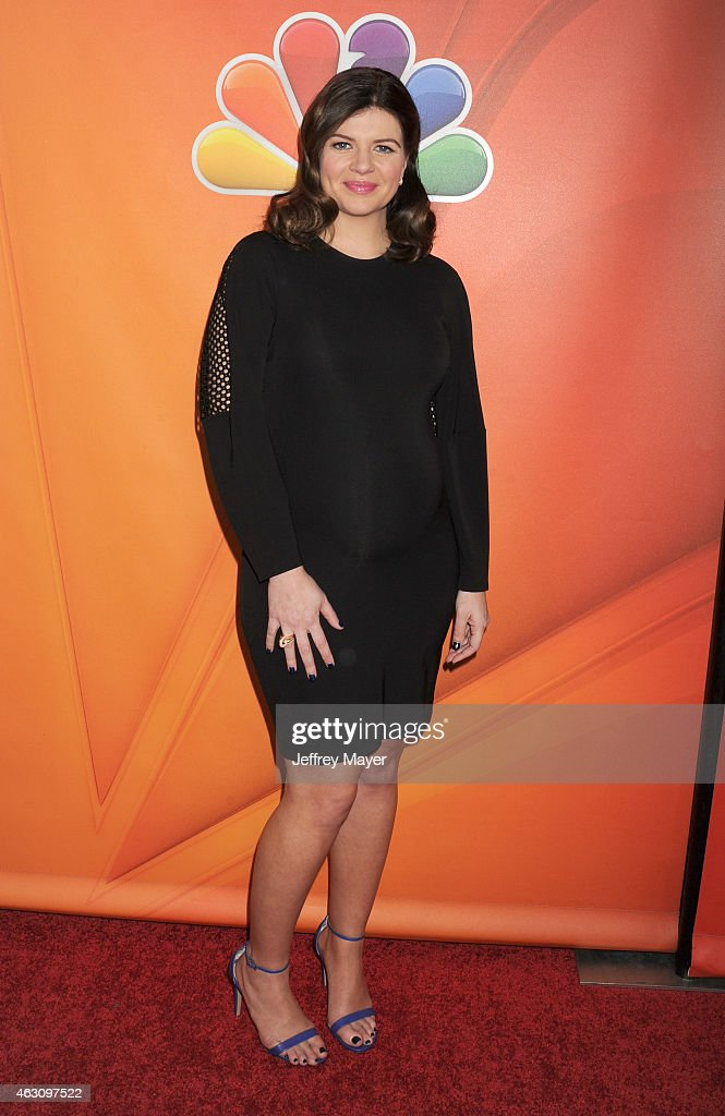 Actress Casey Wilson attends the NBCUniversal 2015 Press Tour at the Langham Huntington Hotel on January 16, 2015 in Pasadena, California.