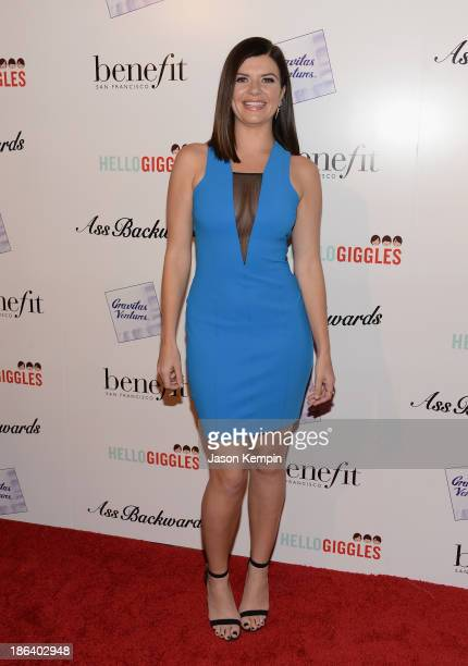 Actress Casey Wilson attends the premiere of Gravitas Ventures' Ass Backwards at the Vista Theatre on October 30 2013 in Los Angeles California