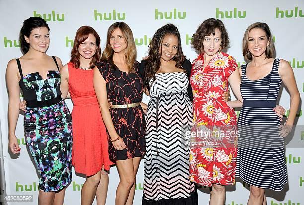 Actress Casey Wilson creator/actress Dannah Feinglass Phirman actresses Andrea Savage Tymberlee Hill Kristen Schaal and creator/actress Danielle...