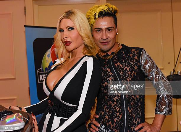 Actress Cassandra Cass and actor Jesus Trujillo attend Art Hearts Fashion Los Angeles Fashion Week on October 9 2016 in Los Angeles California