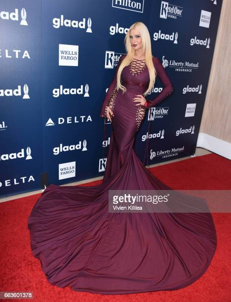 Actress Cassandra Cass attends the 28th Annual GLAAD Media Awards in LA at The Beverly Hilton Hotel on April 1 2017 in Beverly Hills California