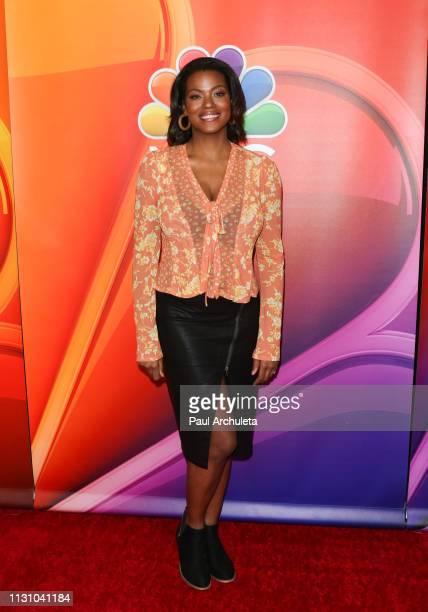 Actress Cassandra Freeman attends the NBC's Los Angeles midseason press junket at NBC Universal Lot on February 20 2019 in Universal City California