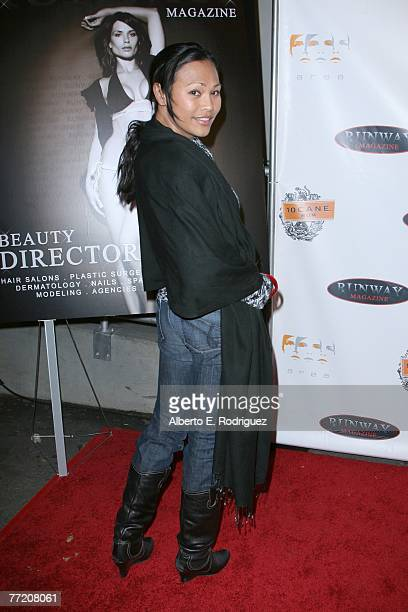 Actress Cassandra Hepburn arrives at the Runway Magazine launch party held at Area nightclub on October 5 2007 in West Hollywood California