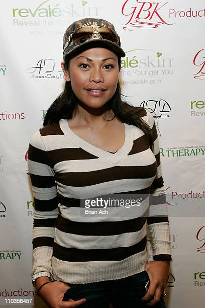 Actress Cassandra Hepburn visits the Revaleskin Rejuvenation Lounge at the Phoenix Gallery on January 20 2008 in Park City Utah
