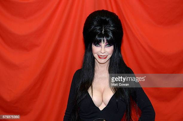 Actress Cassandra Peterson aka Elvira attends ComicCon International on July 23 2016 in San Diego California