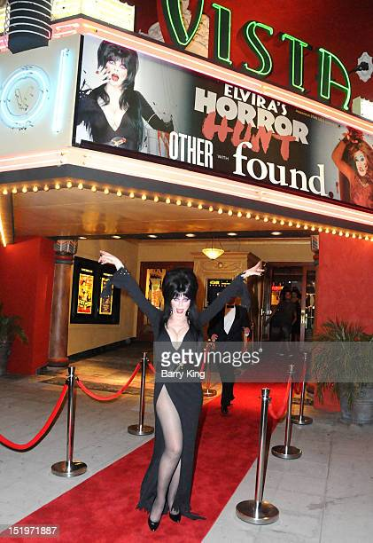 Actress Cassandra Peterson aka Elvira attends Elvira's 'Horror Hunt' Film Festival at the Vista Theatre on September 13 2012 in Los Angeles California