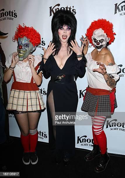 Actress Cassandra Peterson AKA Elvira attends the VIP opening of Knott's Scary Farm HAUNT at Knott's Berry Farm on October 3, 2013 in Buena Park,...