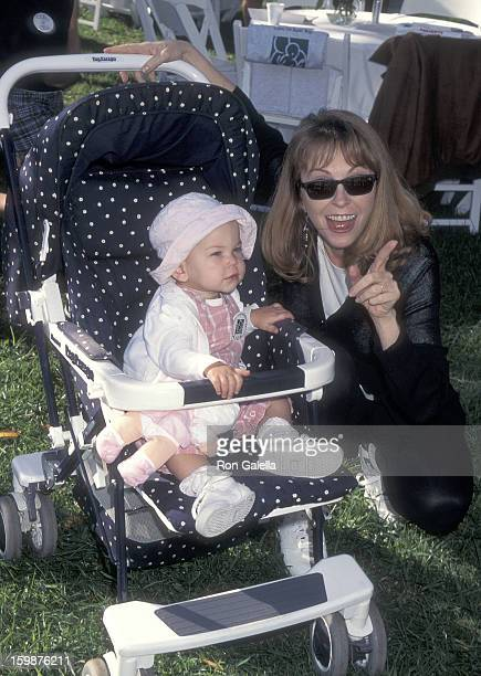 Actress Cassandra Peterson and daughter Sadie Pierson attend the Caring for Babies with AIDS' Fifth Annual StrollAThon on November 12 1995 at Roxbury...