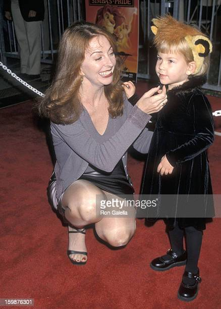 Actress Cassandra Peterson and daughter Sadie Pierson attend the The Lion King 2 Simba's Pride Westwood Premiere on October 20 1998 at the Wadsworth...