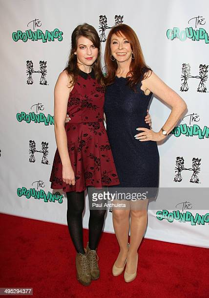 Actress Cassandra Peterson and her Daughter Sadie Pierson attends the Groundlings 40th Anniversary Gala at Hyde Lounge on June 1 2014 in West...