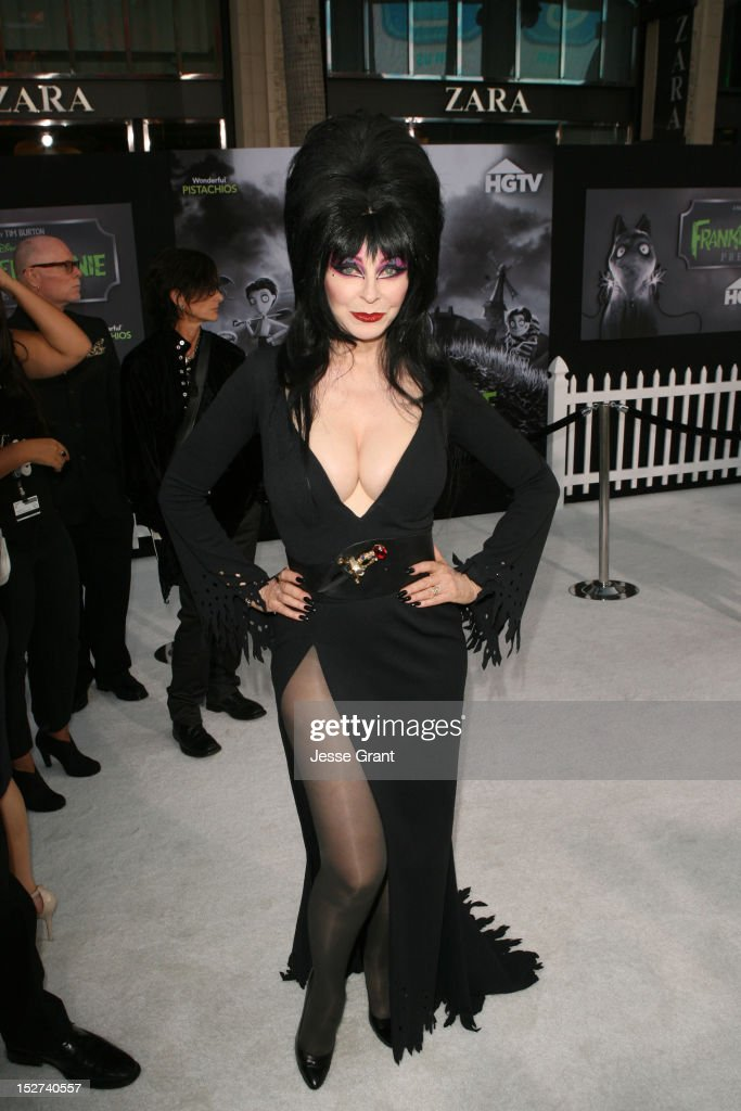 Actress Cassandra Peterson arrives at Disney's 'Frankenweenie' premiere at the El Capitan Theatre on September 24, 2012 in Hollywood, California.