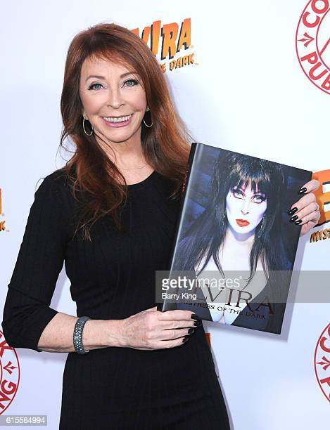 Actress Cassandra Peterson attends book launch party for her new book 'Elvira Mistress Of the Dark' at Hollywood Roosevelt Hotel on October 18 2016...