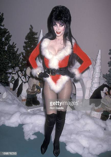 Actress Cassandra Peterson attends the 64th Annual Hollywood Christmas Parade on December 3 1995 at KTLA Studios in Hollywood California