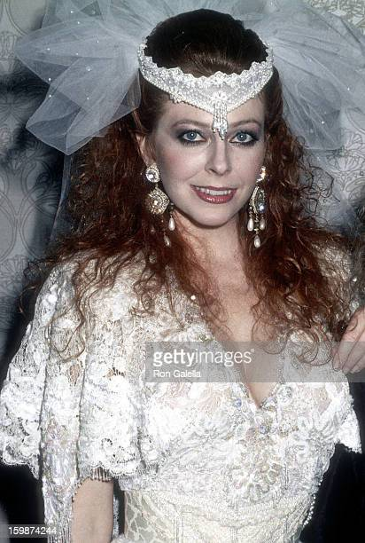 Actress Cassandra Peterson attends the Amanda Foundation's Third Annual Celebrity Fashion Show and Auction on October 13 1987 at the Beverly Hilton...