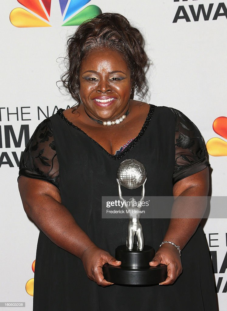 Actress Cassi Davis, winner of Outstanding Actress in a Comedy Series for 'Tyler Perry's House of Payne,' poses in the press room during the 44th NAACP Image Awards at The Shrine Auditorium on February 1, 2013 in Los Angeles, California.