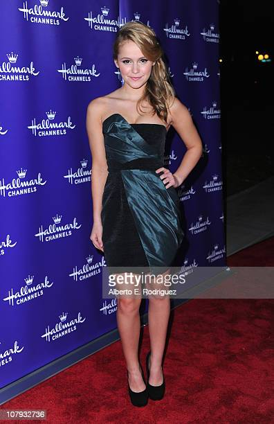 Actress Cassi Thomson arrives to Hallmark Channel's 2011 TCA Winter Tour Evening Gala on January 7 2011 in Pasadena California