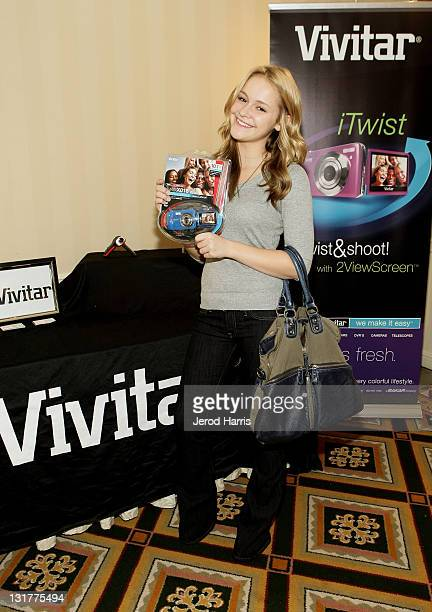Actress Cassi Thomson attends the HBO Luxury Lounge in honor of the 68th Annual Golden Globe Awards at The Four Seasons Hotel on January 15 2011 in...