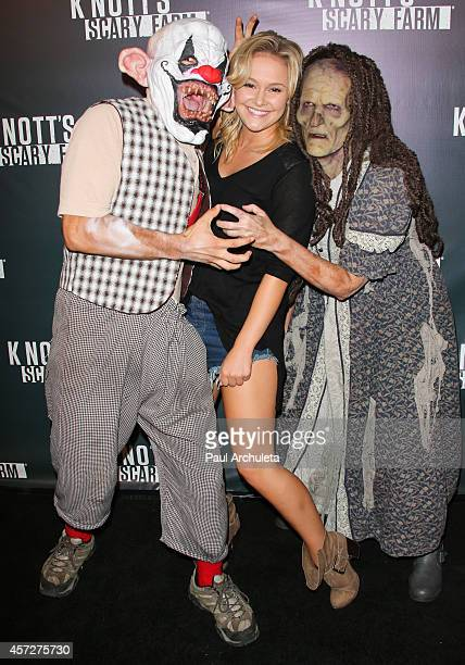 Actress Cassi Thomson attends the Knott's Scary Farm celebrity VIP opening night at Knott's Berry Farm on October 2 2014 in Buena Park California
