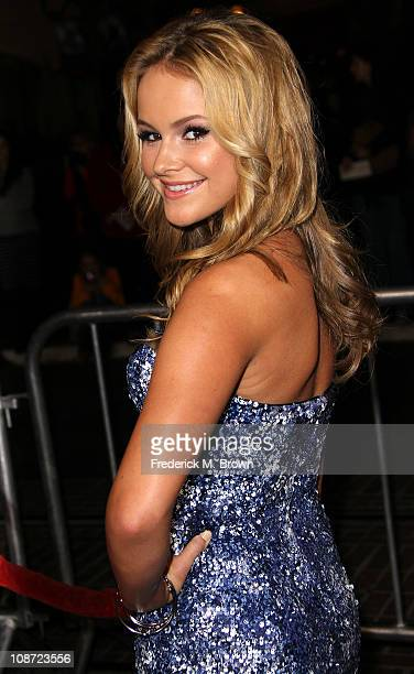 Actress Cassi Thomson attends the premiere of Waiting For Forever at The Pacific Theatres at the Grove on February 1 2011 in Los Angeles California