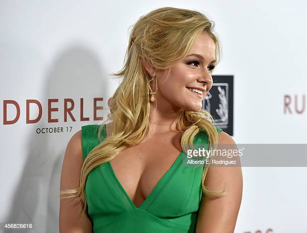 Actress Cassi Thomson attends the Screening Of Samuel Goldwyn Films' Rudderless at the Vista Theatre on October 7 2014 in Los Angeles California