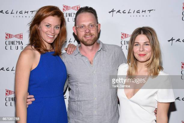 Actress Cassidy Freeman actor Arron Shiver and actress/writer/director Cheryl Nichols attends Arclight Presents Slamdance Cinema Club 'Cortez' at...