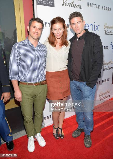 Actress Cassidy Freeman and guests attend the Los Angeles premiere of 'Battle Scars' at Ahrya Fine Arts Theater on July 11 2017 in Beverly Hills...