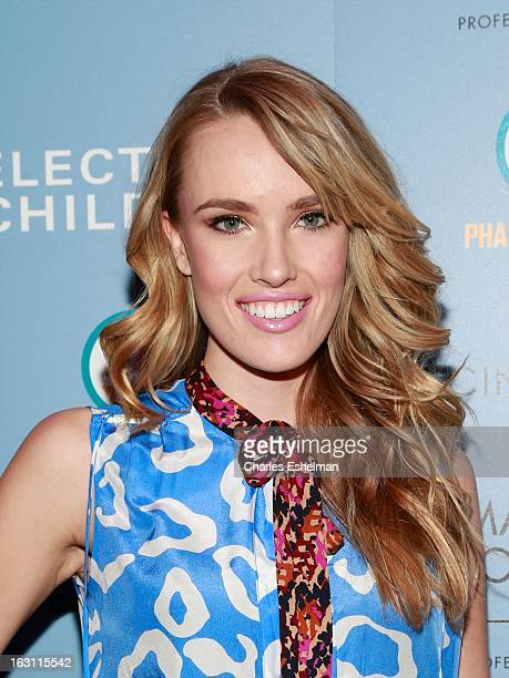 Actress Cassidy Gard attends The Cinema Society Make Up For Ever host a screening of Electrick Children at IFC Center on March 4 2013 in New York City