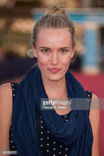 US actress Cassidy Gard poses before the screening of the movie 'The Secret' during the 38th Deauville American Film Festival on September 3 2012 in...
