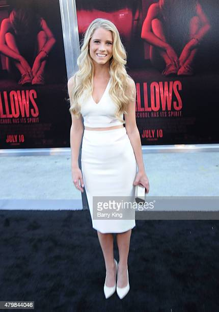 Actress Cassidy Gifford attends the Premiere Of New Line Cinema's 'The Gallows' at Hollywood High School on July 7 2015 in Los Angeles California