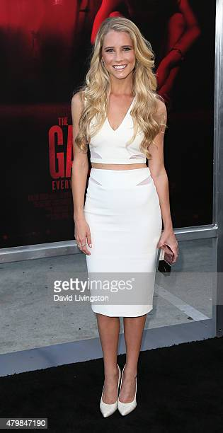 Actress Cassidy Gifford attends the premiere of New Line Cinema's The Gallows at Hollywood High School on July 7 2015 in Los Angeles California