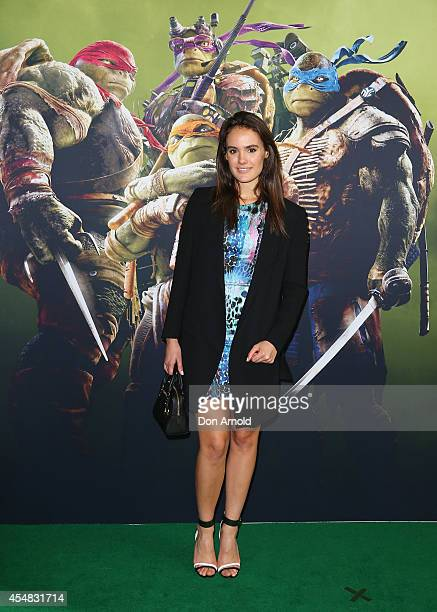 Actress Cassie Howarth arrives at the Sydney Premiere of Teenage Mutant Ninja Turtles at The Entertainment Quarter on September 7 2014 in Sydney...
