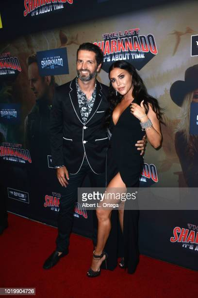 Actress Cassie Scerbo and guest arrive for the Premiere Of The Asylum And Syfy's 'The Last Sharknado It's About Time' held at Cinemark Playa Vista on...