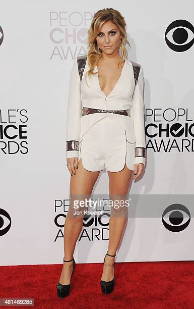 Actress Cassie Scerbo arrives at The 40th Annual People's Choice Awards at Nokia Theatre LA Live on January 8 2014 in Los Angeles California