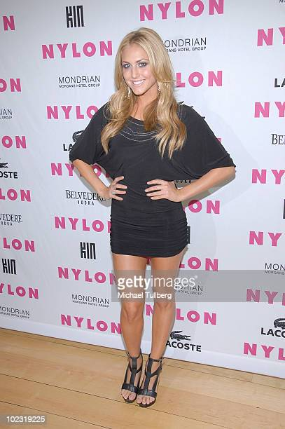 Actress Cassie Scerbo arrives at the Nylon Magazine June/July 2010 Music Issue launch party at the Mondrian Hotel on June 22 2010 in Los Angeles...