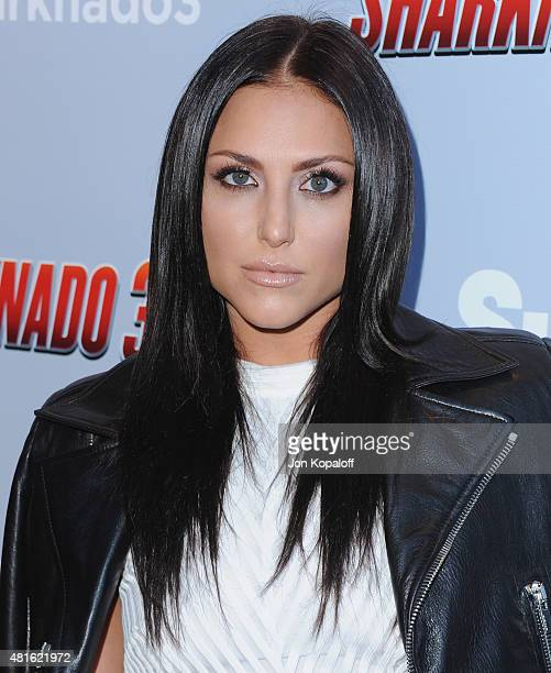 Actress Cassie Scerbo arrives at the Premiere Of The Asylum's Sharknado 3 Oh Hell No at iPic Theaters on July 22 2015 in Los Angeles California