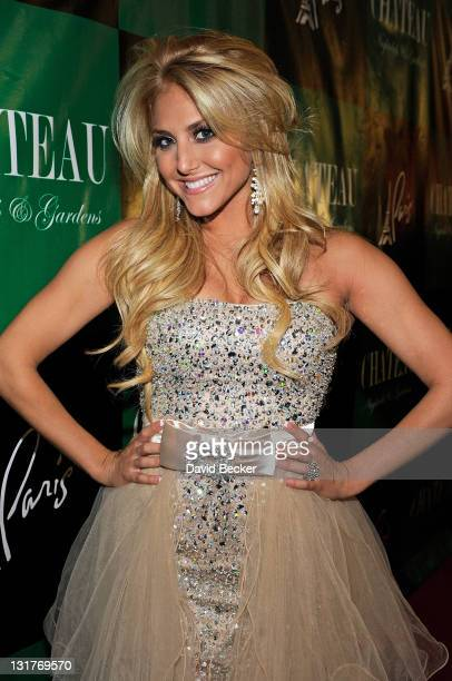 Actress Cassie Scerbo arrives to celebrate her birthday at Chateau Nightclub Gardens at the Paris Las Vegas on April 22 2011 in Las Vegas Nevada