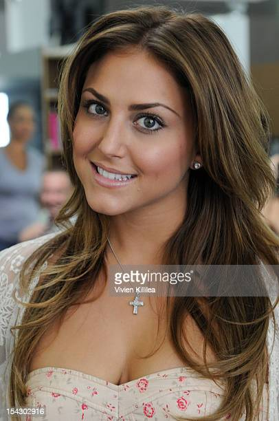 "Actress Cassie Scerbo attends HolllyScoop's ""Beauty For Hope"" Supporting Breast Cancer Awareness Month at Gavert Atelier salon on October 17, 2012 in..."